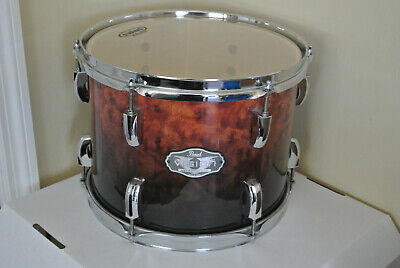 """PEARL VISION ARTISAN II 12"""" TOM in BURL WALNUT FADE for YOUR DRUM SET! LOT #Z352"""
