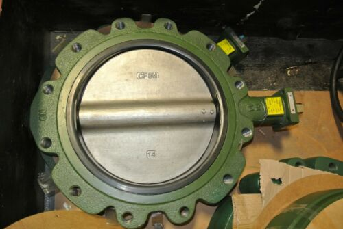 "14"" Crane Center Line 14C264435X Lug Butterfly Valve DI x SS NEW MB (2524)"