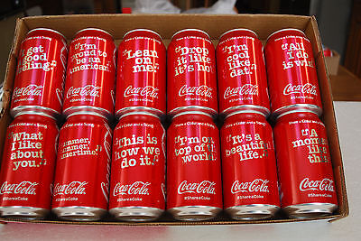 """From COCA-COLA - NEW """"SHARE A COKE and A SONG""""  12 cans SET"""