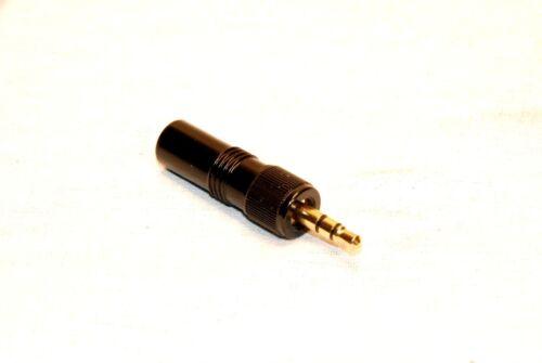 SENNHEISER TYPE 3.5mm LOCKING GOLD PLUG REPAIR MIC.