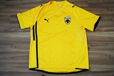 AEK ATHENS GREECE HOME 2009/2010 ORIGINAL FOOTBALL SHIRT JERSEY PUMA SIZE XL image