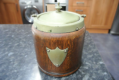 Vintage 1950s wooden Tea Caddy / Storage Jar