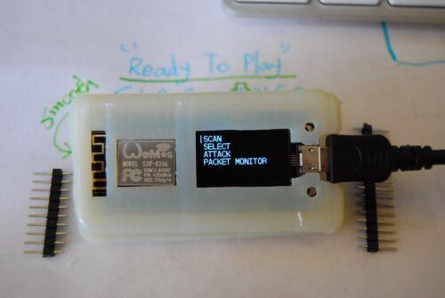 WiFi Jam V2.1.5 Full SLA Case FUN Hacking Tool ESP8266 Module NODEMCU