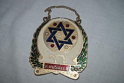 MÉDAILLE SOUVENIR DE JÉRUSALEM - CUIVRE ÉMAILLÉ - REMEMBRANCE MEDAL OF JERUSALEM