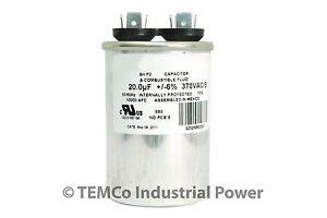 20-MFD-370v-Round-AC-Electric-Motor-Run-Capacitor-HVAC-370-vac-v-volts-20-uf