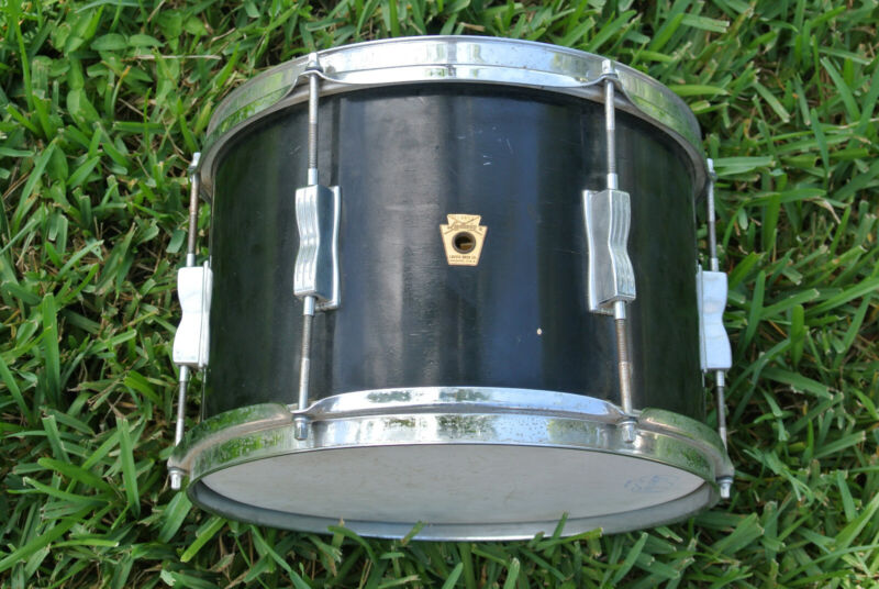 "ADD this 1960's LUDWIG 12"" BLACK LACQUER CLUB DATE TOM to YOUR DRUM SET! #F390"