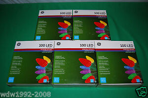 GE Premium 100ct. LED C-5 Crystal Style Party/Christmas Multi-Colors Light Sets