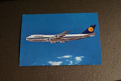 Old Vintage Postcard Lufthansa Boeing Jet 747 Airlines Aviation Airplane RPPC