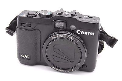 Canon PowerShot G16 12.1 MP Digital Camera - Black