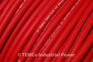 WELDING CABLE 1 AWG RED 25' CAR BATTERY LEADS USA NEW Gauge Copper