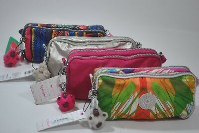 New With Tag Kipling Chap Pen Case/Cosmetics Makeup Pouch organizer