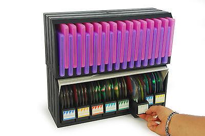 2 PZ MODULARI Scatola archivio Porta CD/DVD 96 pz.+ CD Box  30 pz. con custodia