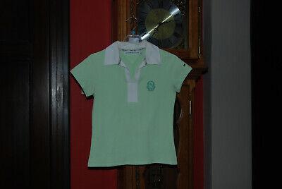 """Polo T-shirt""""Hilfiger Sport""""vert clair Manches courtesTaille S/36 Très Bon Etat!"""