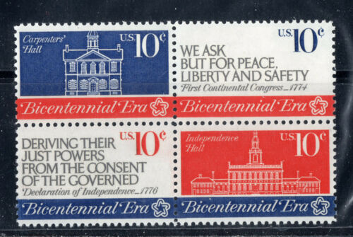 1543 - 1546 * CONTINENTAL CONGRESS *   U.S. Postage Stamps Block Of 4 MNH