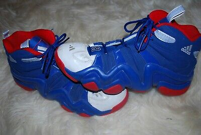 Men's Adidas Crazy 8 USA Red, White, Royal Blue Sneakers (12)
