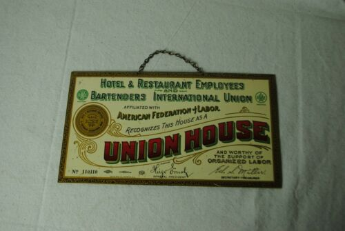 """Union House"" reproduction metal Sign"