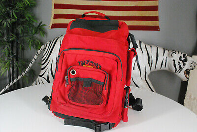 Vintage 90s CCS Skateboarding Bookbag Backpack Red Skater Board Bag