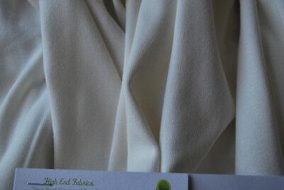(Bamboo organic Cotton Spandex  1x1 Baby Rib Jersey knit Fabric PFD Dyeable )