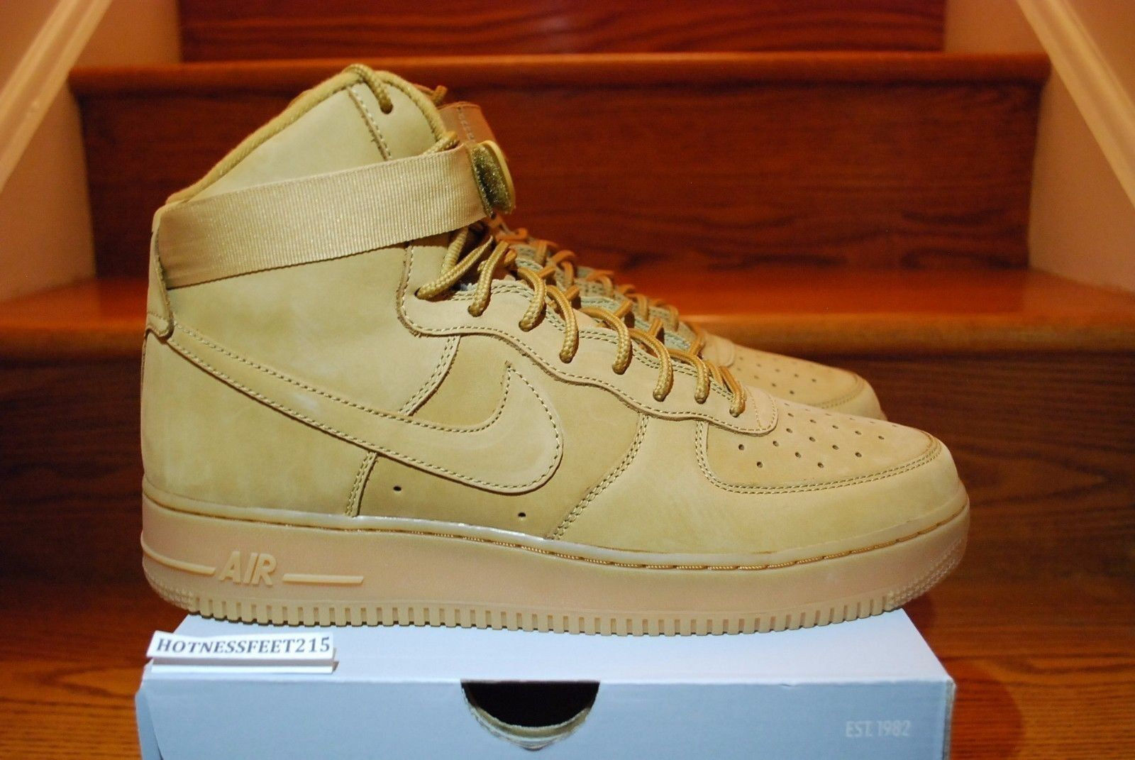 2018 Nike Air Force 1 High '07 LV8 Flax Wheat Collection
