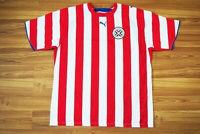 PARAGUAY NATIONAL TEAM HOME FOOTBALL SOCCER SHIRT 2006-2007 JERSEY PUMA SIZE XL image