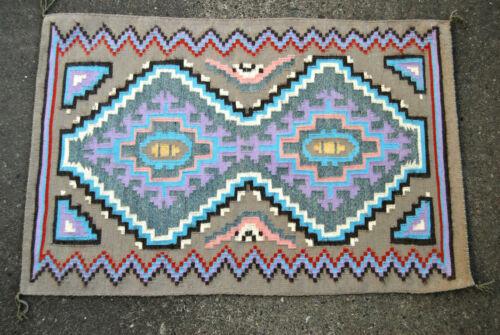 Vintage Navajo Rug in Pastel Colors