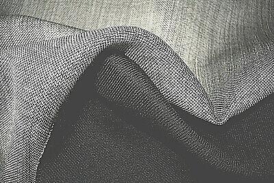 Wolle Gabardine (Wolle Einrichtung Grau & Schwarz Gabardine 2-fach Umkehrbar Stoff Made in Italy)