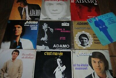 "LOT 10 X SINGLE 7"" VINYL *SALVATORE ADAMO* 45 TOURS / 45 TOEREN"