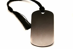Personalised-Black-Aluminium-Dog-Tag-Bookmark-Gift-Box-Choice-of-Tassel-Engraved