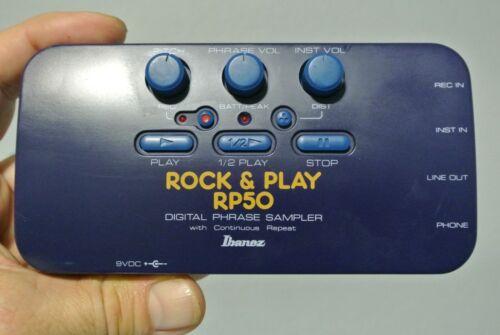IBANEZ ROCK & PLAY RP50 DIGITAL PHRASE SAMPLER W/CONTINUOUS REPEAT / LOOPER 90