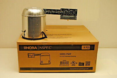 Case Of 6 Nora Nhric-17qat 6 Ic Air-tight Can For Recessed Lighting Remodel