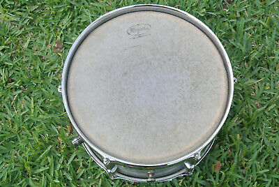 """VINTAGE Rogers HOLIDAY 12"""" STEEL GRAY RIPPLE PEARL TOM for YOUR DRUM SET! #F76"""