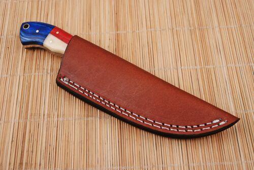 CUSTOM HAND MADE PURE LEATHER SHEATH FOR FIXED BLADE KNIFE AH