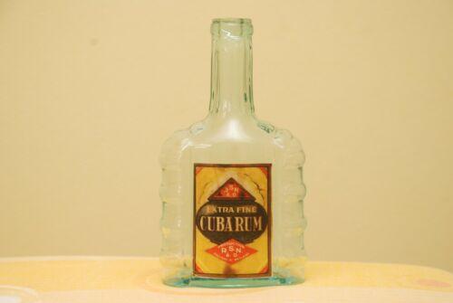 VINTAGE EXTRA FINE CUBA RUM ALCOHOL EMPTY BOTTLE-RARE