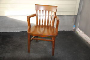 ARMED WOOD CHAIR