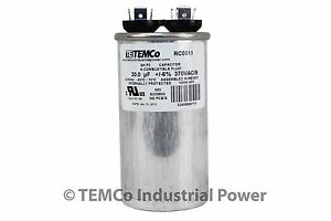 Run-Capacitor-30-MFD-370v-Round-AC-Electric-Motor-HVAC-370-vac-v-volts-30-uf
