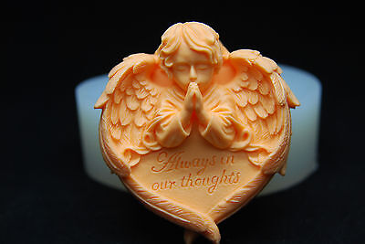 3D Praying Angel, Silicone Mold Chocolate Polymer Clay Jewelry Soap Melting Wax
