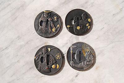 4 Set Tsuba für Samurai Schwerter