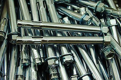 (10) Concrete Sleeve Anchors 5/8 x 6 Includes Nuts & Washers Expansion Bolts