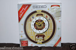 NEW Seiko Melodies in Motion Clock, 22 Swarovski Crystals, 24 Hi-Fi Melodies