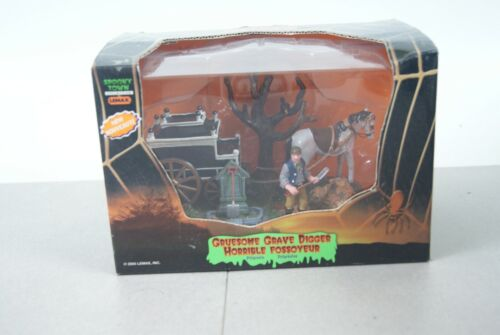 Lemax Spooky Town 2005 Gruesome Grave Digger #53511 Halloween Village NOS