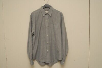 Band of Outsiders gray plaid long sleeve shirt XL made in Italy
