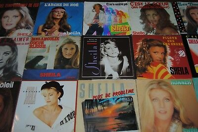 "LOT 15 X SINGLE 7"" VINYL *SHEILA* DISQUES 45 TOURS"
