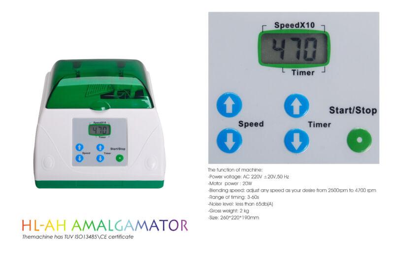 Dental Lab High Speed Digital Amalgamator Amalgam Mixer Green
