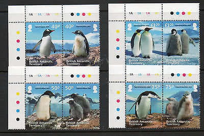 BRITISH ANTARCTIC TERRITORY 2013 PENGUINS SET OF 8 FINE UM/MNH