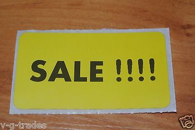 Lot 100 Yellow Self-adhesive Sales Price Labels Stickers Tags Retail Store