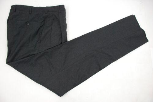 "Incotex Super 100/'s MENS Solid Black Dress PANTS 36/""W X 32 1//2 L Med in Italy"