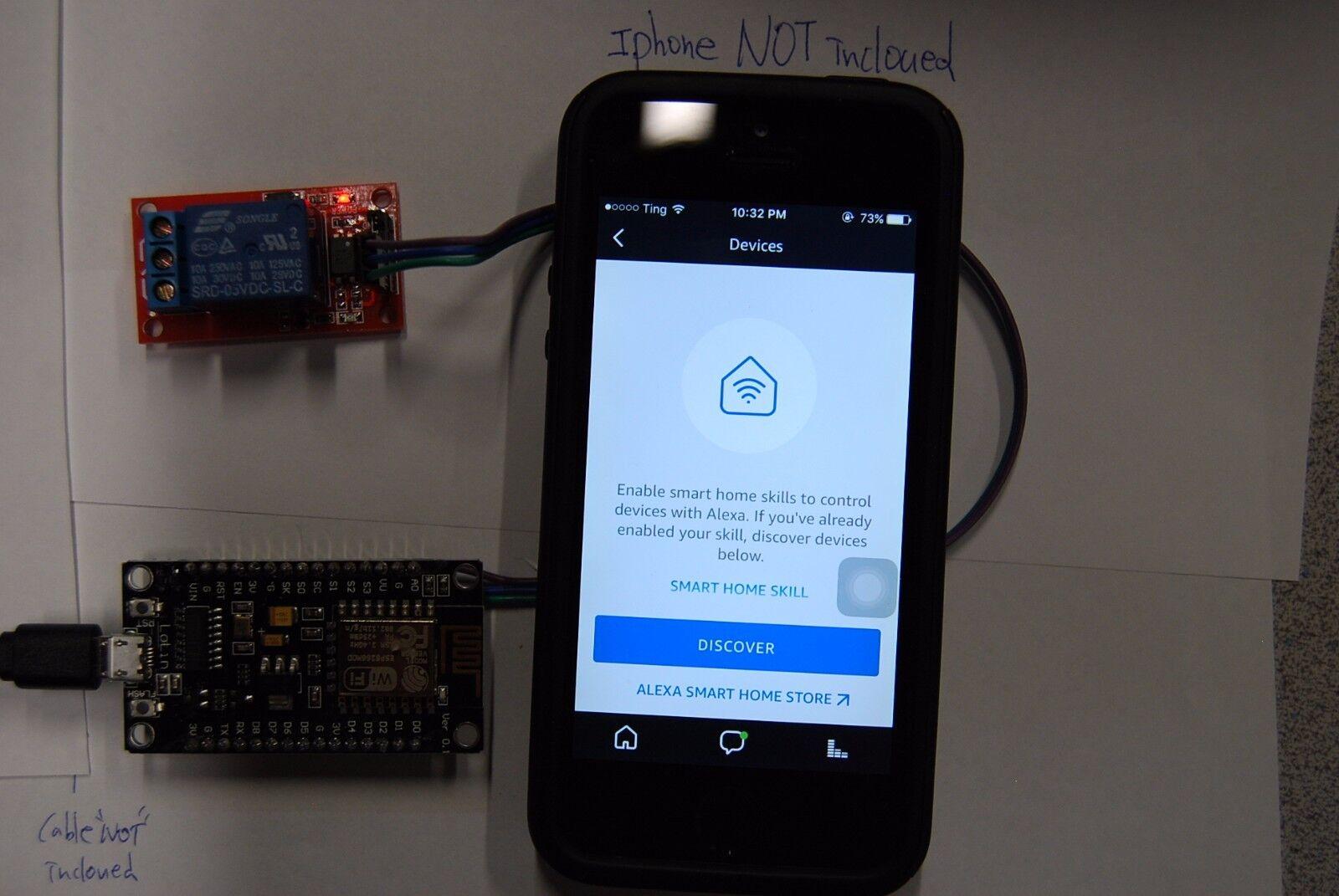 """как выглядит Модуль для домашней автоматики Alexa Amazon Echo WiFi """" Momentary """" 1 Relay Switch - Ask to Turn ON/OFF Garage фото"""