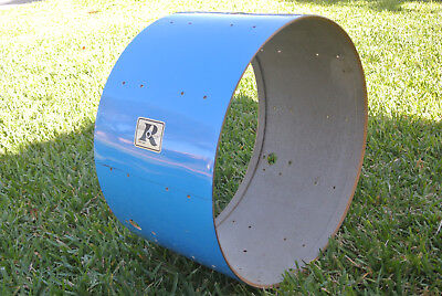 """Used, Rogers USA 24"""" PACIFIC BLUE MEMRILOC ERA BASS DRUM SHELL for YOUR SET! #D813 for sale  Fort Myers"""