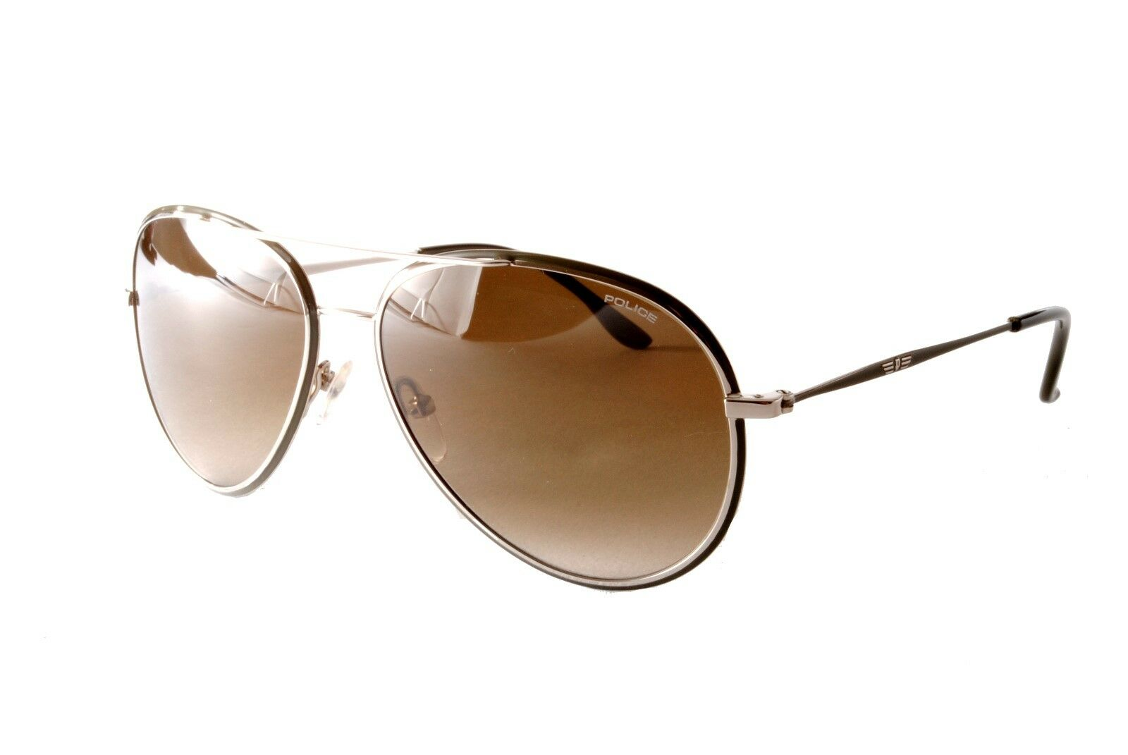 Police Sunglasses S8299M 0523 Silver Green Brown Gradient