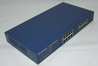 NETGEAR Prosafe 16-Port Gigabit Switch  JGS516-200EUS v2 10/100/1000 Mbps